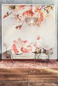 Add our Spring Floral Wallpaper to your space for a touch of vibrant designs and visual texture. The delicate layout of the mural will leave your space with an ethereal aura. Wall Murals, Wall Art, Wall Decor, Room Decor, Wall Treatments, Wall Wallpaper, Wall Design, Interior And Exterior, Inspiration