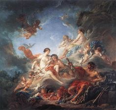Vulcan Presenting Venus with Arms for Aeneas, François Boucher, 1757