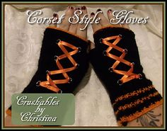 Corset style gloves by Christina Paulson