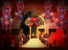 The Final Design For Our Halloween Masquerade Ball Is Here! | Event Ideas
