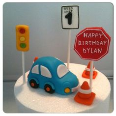 Vroom Vroom! Beep Beep! Beedo beedo! This sweet cake topper set is sure to drive little one wild! Included in this order are the following: