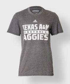 Men's Texas A&M Football Tee by Adidas. #AggieGifts #AggieStyle #AggiePerformance