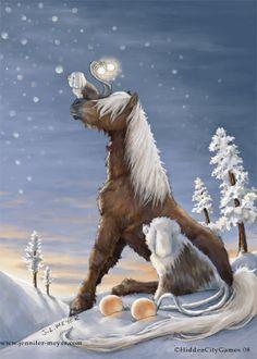 First snow by JLMeyer #bellasara #horse #illustration