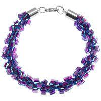 Dark Neon Kumihimo Bracelet Tutorial