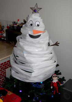 Elf on the Shelf Ideas Printables Stickers Toilet Paper Christmas Tree Snowman