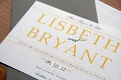 Modern Save the Date Wedding Invitation set of 50 by Bellezaeluce