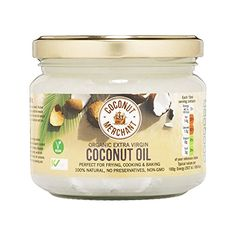 Huile de noix de coco – 300 ml Huile de noix de coco biologique extra vierge et non raffinée: Extra-Virgin Organic Raw Coconut Oil 300ml…