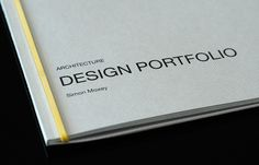 Architect Portfolio by Make_Studio , via Behance