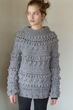 Ravelry: Riot Yoke Pullover pattern by Cathy Carron