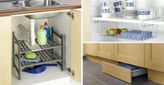 """Vous manquez de place dans la cuisine ? Ces objets vont vous changer la vie ! Découvrez 23 objets pratiques et """"gain de place"""" pour petites cuisines !"""