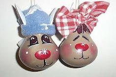 Cute light bulb reindeer decorations