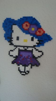 Hello Kitty hat hama beads by astrid030907