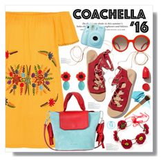 """""""Colorful Coachella '16"""" by queenvirgo on Polyvore featuring Ancient Greek Sandals, Alexander McQueen, H&M, Jil Sander and NARS Cosmetics"""