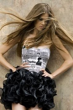 Next ABC party - newspaper top with clear tape, maybe change the bottom and use a trash bag?