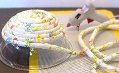DIY No-Sew Rope Baskets – Happiness is Homemade – Diy Fabric Basket Rope Basket, Basket Weaving, Crafts To Sell, Easy Crafts, Fabric Crafts, Sewing Crafts, No Sew Crafts, Rope Rug, Do It Yourself Inspiration