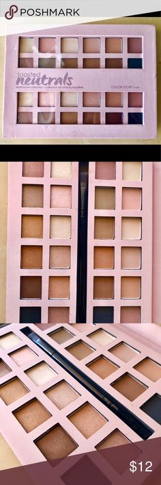 Toasted Neutrals Eyeshadow Palette Neutral shades in both shimmer and matte Color Story by SE Makeup Eyeshadow