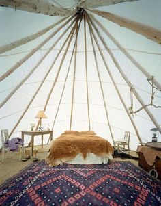 Dunton Hot Springs, Experience the Wild West in your own private tepee at this luxurious resort and spa in a restored ghost town.