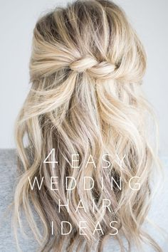 cute twisted hairstyle for a half up do loose messy waves blonde hair