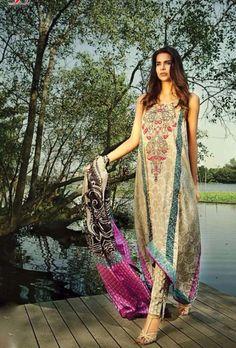 Multicolor digital printed suit with dupatta - Desi Royale  - 1