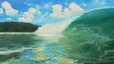 Costa Rican Rainy Season, by Kathryn Colvig , oil on canvas.