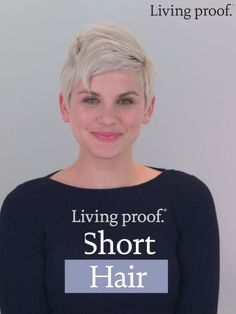 Not sure how to style your short hair? This tutorial is for you. Start with one product and get endless styling possibilities. Not sure how to style your short hair? This tutorial is for you. Start with one product and get endless styling possibilities. Short Pixie Haircuts, Pixie Hairstyles, Easy Hairstyles, Beautiful Hairstyles, Bob Haircuts, Wedding Hairstyles, Short Grey Hair, Short Hair Cuts For Women, Short Hair Styles