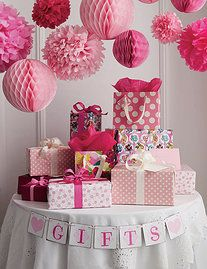 Home paper poms, tissue paper decorations - in love with paper pom poms