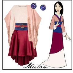 Disney Mulan 2 by micuwinter on Polyvore featuring River Island, H&M, Vielma London, Monsoon, Roberto Cavalli and Hermès
