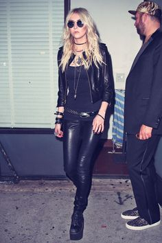 Taylor Momsen leaving Warwick Nightclub in Hollywood, April 2014 Taylor Momsen Style, Taylor Michel Momsen, Rocker Girl, Rocker Style, Alternative Mode, Alternative Fashion, Punk Fashion, Boho Fashion, Badass Style