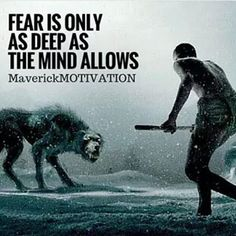 Fear is the mind killer and it will eat away at your dreams and devour your aspirations of you let it. You decide. Wolf Quotes, Wisdom Quotes, Quotes To Live By, Me Quotes, Motivational Quotes, Inspirational Quotes, Qoutes, Strong Quotes, Positive Quotes