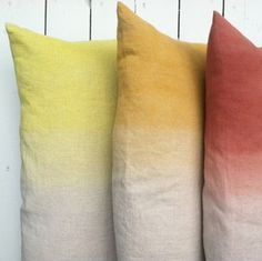 Hand-Painted Linen Cushions