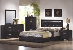 Furniture ~ A Luxurious Black Furniture For Your Bed Room Interior ...