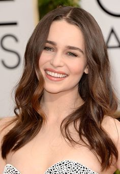 Emilia Clarke from Get-the-Look: Golden Globes 2014 Hair & Makeup | E! Online