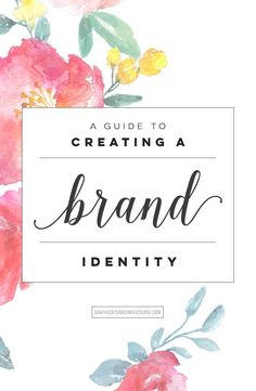 A guide to creating a brand identity -essential branding information for your handmade startup Corporate Design, Brand Identity Design, Brand Design, How To Design Logo, Corporate Identity, Build Your Brand, Creating A Brand, Business Branding, Personal Branding