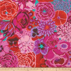 Kaffe Fassett Collective Bekah Magenta from @fabricdotcom  Designed by Kaffe Fassett for Westminster/Rowan Fabrics, this cotton print is perfect for quilting, apparel and home decor accents. Colors include magenta, purple, green, orange, red and pink.