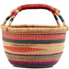 African XL Market Basket - Ghana Bolga - 16.5 Inches Across - #56000