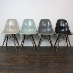 EAMES HERMAN MILLER DSW SIDE CHAIRS