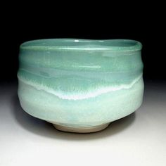 JA4: Japanese Tea Bowl, Seto Ware, Icy water glaze by Famous potter, Eichi Kato