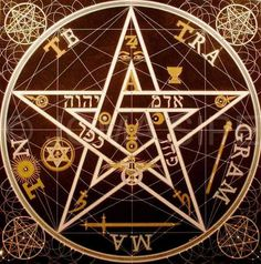 century occultist Eliphas Levi constructed this pentagram, which he considered to be a symbol of the microcosm, or human being. It is believed by many to be one of the most powerful pentacle designs ever conceived. Occult Symbols, Magic Symbols, Occult Art, Witchcraft Symbols, Pentacle, Totenkopf Tattoos, Magic Circle, Book Of Shadows, Sacred Geometry