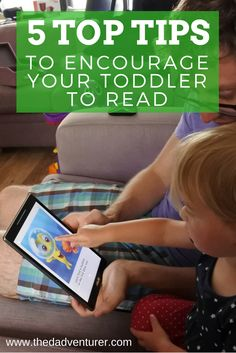 Here are my top 5 tips on how to encourage your toddler to read. Click through to read the post.  As a parent, reading with your child is hugely important to their development. Studies have shown that it can help with improved speech, communication, understanding, concentration, memory, imagination and logic. Here's some tips on how you can encourage a love for books.