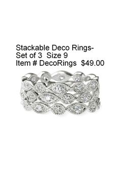 Stella Dot ring set. So gorgeous and elegant without the hefty price tag