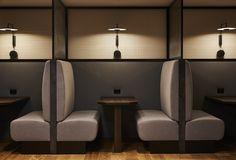 Australian Interior Design Awards - WeWork Pyrmont by TomMarkHenry Cafe Restaurant, Restaurant Seating, Restaurant Furniture, Cafe Bar, Booth Seating, Banquette Seating, Office Seating, Office Chairs, Australian Interior Design