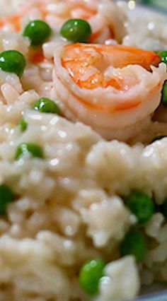 Shrimp Risotto with Peas (Pressure Cooker) Power Cooker Recipes, Pressure Cooking Recipes, Crockpot Recipes, Healthy Recipes, Vegetarian Recipes, Risotto Dishes, Risotto Recipes, Pressure Cooker Rice, Instant Pot Pressure Cooker