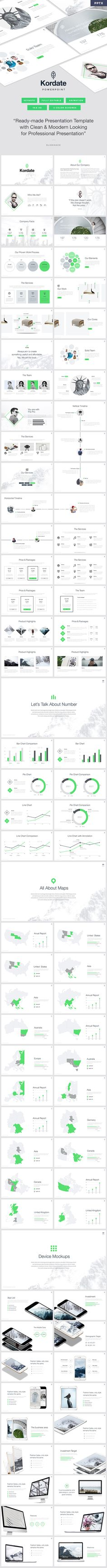 Kordate - Modern and Professional #Powerpoint #Template - PowerPoint Templates Presentation Templates Download here: https://graphicriver.net/item/kordate-modern-and-professional-powerpoint-template/19443107?ref=alena994