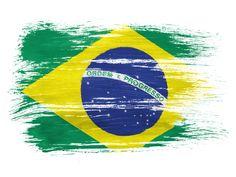 Brazil Splatter Flag Painting Print
