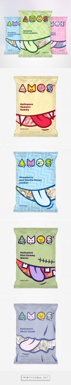 Amos is a Hong Kong company leader in the production and marketing of candy for children. Rebranding by Solid Studio