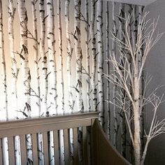 Making the most of our rental with this peel and stick wallpaper in Gav's room. Great for renters or those with commitment issues #handyhubby #wallpops