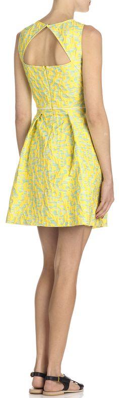 robe jacquard jaune by tara jarmon - Tara Jarmon Mariage