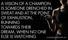 A Vision of a Champion