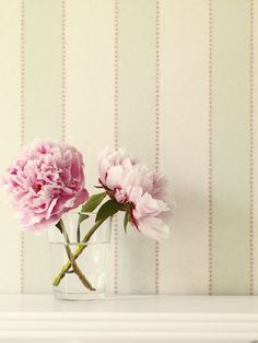 Colefax and Fowler, wallpaper: Striped Wallpaper, Fabric Wallpaper, Colefax And Fowler Wallpaper, Baby Nursery Wallpaper, Color Celeste, Striped Walls, Rose Cottage, Cottage Style, Cottage Design
