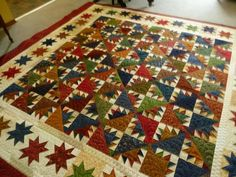 """This pattern is called """"Kansas Troubles"""" from Fons and Porter.  I put it together with scraps from my stash."""